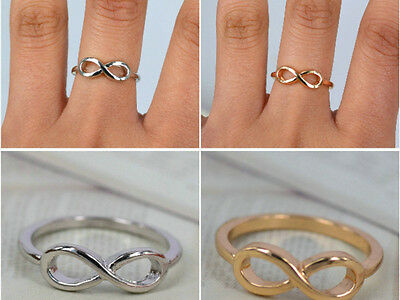 wholesale 50pcs infinity gold tone /silver lots jewelry rings lots