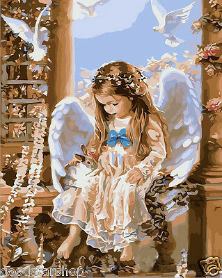 """16""""x20""""Dimensions DIY Paint By Number Kit On Canvas--Angel"""