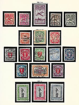 Danzig stamps 1924 collection of 19 stamps  HIGH VALUE!
