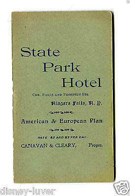 Vintage Hotel Brochure STATE PARK HOTEL Niagara Falls NY w local businesses