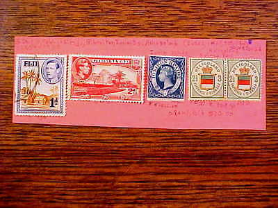 Stamps 4 British Colonies Fiji/ Ionian Is. (2 Used,1 Mint) SCV$396.03