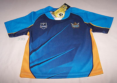 Gold Coast Titans NRL Boys Supporter Home Jersey Size 0 New