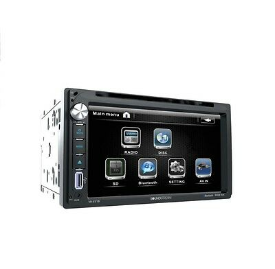 "Soundstream Vr-651B +2Yr Warant Double Din Bluetoooth Dvd Car Stereo 6.5"" Screen"