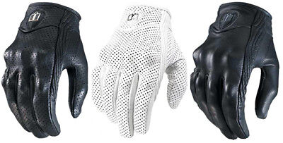 Icon Womens Pursuit Leather Motorcycle Gloves