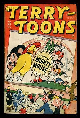 TERRYTOONS #48 Timely Marvel Atlas 1946 MIGHTY MOUSE