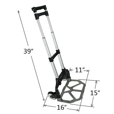 170 lbs Folding Dolly Cart Push Hand Truck Moving Warehouse Platform Trolley NEW