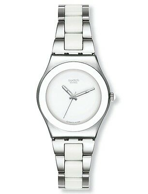 "Swatch Irony Medium ""white Ceramic / Tresor Blanc"" (Yls141Gc) Neuware"