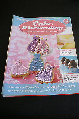 DeAgostini Cake Decorating Issue 14 Frill cutters/White choc layer cake