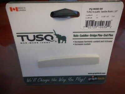 "NEW - Graph Tech TUSQ 1/8"" Acoustic Saddle Blank - PQ-9000-00"