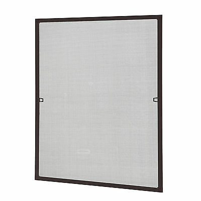 casa.pro Mosquito screen Aluminum frame 80x100cm Brown Insect protection Window