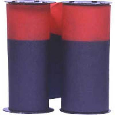 (2 Pack) ACROPRINT 125 & 150 TIME RECORDER RIBBON Purple/Red ink 20-0106-008