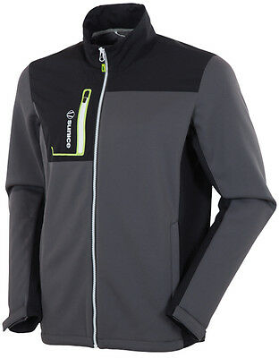 Sunice Lincoln DuoTech Thermal Jacket Black Silver XX-Large- golf outerwear