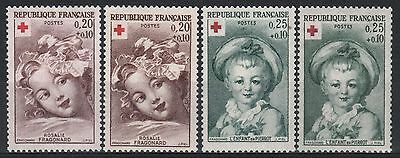 """FRANCE STAMP TIMBRE 1366/67 +1366a/67a """" VARIETE COULEUR CARNET"""" NEUFxx SUP M352"""