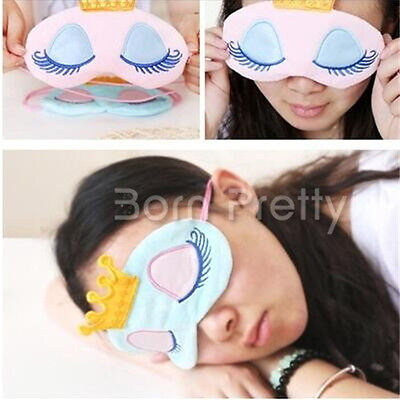 1Pc Masques de Nuit Masque Princesse Couronne Travel Sleeping Blindfold Shade