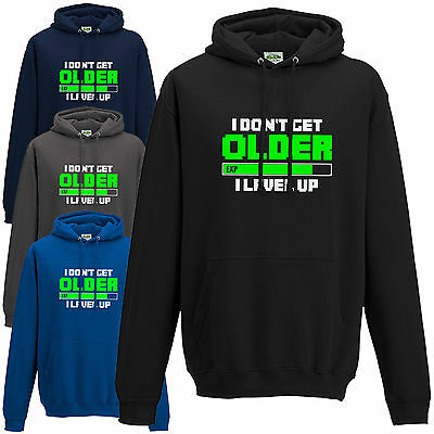 I Don't Get Older I Level Up Hoodie - Funny Cool Gamers Inspired Gift Hoody Top