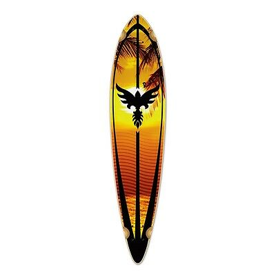 Yocaher Punked Pintail Sunset Longboard Deck