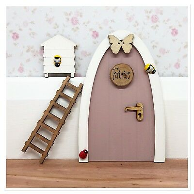 Wooden Handpainted Fairy Door - Great Gift Idea - Personalised Tooth Fairy notes