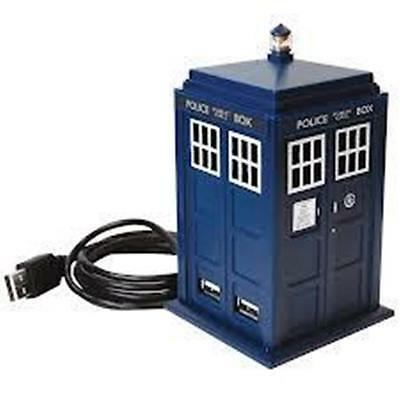 Official Doctor Who USB 4 Port Hub PC Gadget - with Sound Light Desktop Boxed