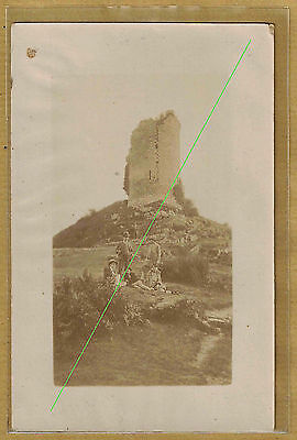 Cpa Carte Photo RPPC Creuse Crozant la Tour du Renard ph0322