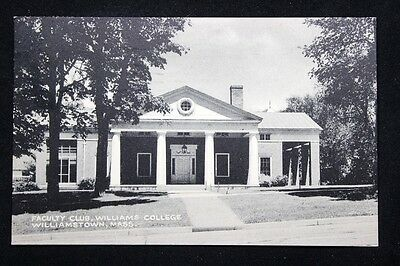 Vintage c.1947 Postcard Faculty Club, Williams College, Williamstown, Mass.