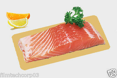 """7.5"""" x 19"""" Fish Smoked Salmon Boards Gold / Silver Food Vacuum Boards 50 pack"""