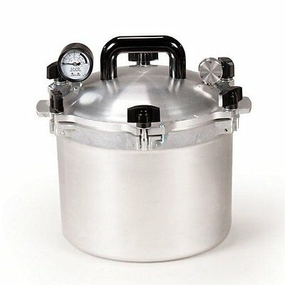 All American 915 15 Qt Heavy Cast Aluminum Pressure Cooker / Canner w/ DVD NEW