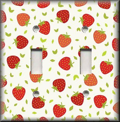 Metal Light Switch Plate Cover Strawberry Kitchen Decor Strawberries Plates Outlet Covers Enoxmedia Home Garden