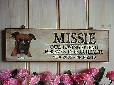 Personalised Boxer Dog Memorial Plaque Garden Sign Weatherproof Boxer In Memory