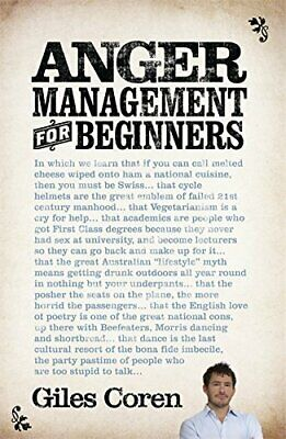 Anger Management (for Beginners) by Coren, Giles Paperback Book The Cheap Fast