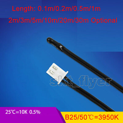 Waterproof Temperature Sensor Probe Thermistor NTC10K 2M 3M 5M 10M  Thermometers