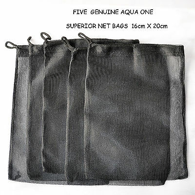 """"""" SPECIAL OFFER """" FIVE - AQUA ONE BAGS -GREAT FOR PURE POND BALLS  20cm X 16cm"""