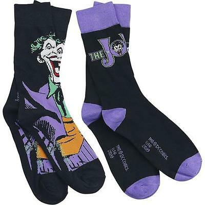 Batman - The Joker Twin Pack Sock Set - New & Official DC Comics With Tag