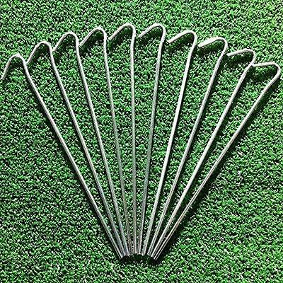 10X Artificial Grass Lawn Ground Pegs Pins Weed Control Fabric Sheet Nets Turf