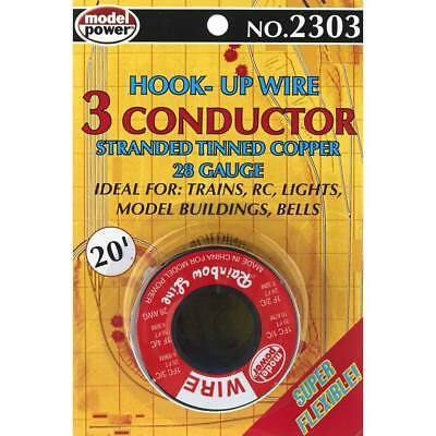 NEW Model Power 3 Conductor Wire Carded (28 Gauge) 20  2303