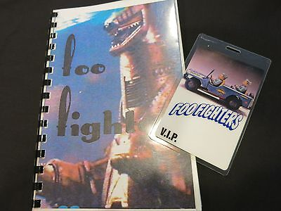 Foo Fighters Original Tour Itinerary Book & Pass! 1996 Tour Dave Grohl Nirvana