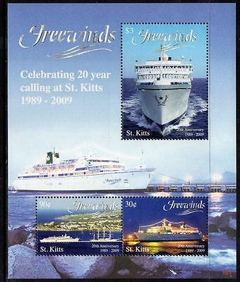 "St Kitts MNH 2009 The 20th Anniversary of ""Freewinds"" M/S"