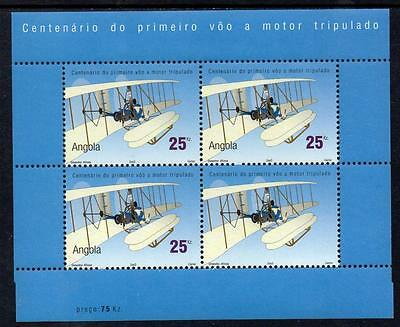 Angola MNH 2003 The 100th Anniversary of the Powered Flight M/S