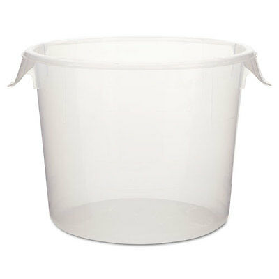 Round Storage Containers, 6 qt, 10dia x 7 5/8h, Clear