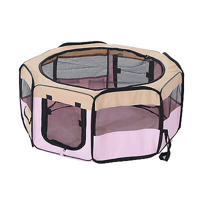 "PawHut Pet Playpen 37.4"" Play Pen Kennel Exercise Dog Crate Puppy Fence Foldable"