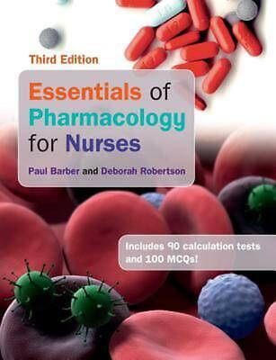 Essentials of Pharmacology for Nurses by Paul Barber (English) Paperback Book Fr