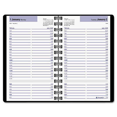 """""""DayMinder Daily Appointment Book, 4 7/8 X 8, Black Recycled Daily AAGG10000"""""""