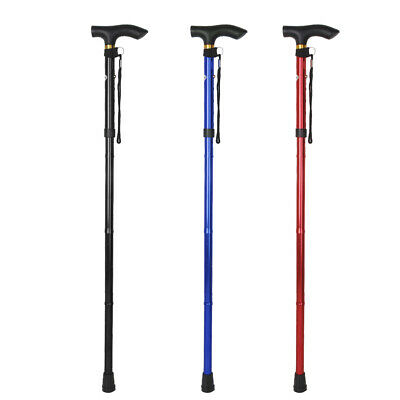 Adjustable Easy Fold Extenable Elderly Walking Stick Hand Straps Cane Crutches