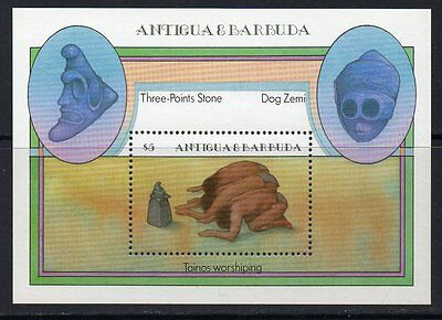 Antigua Sgms918 1985 Native American Artefacts Mnh