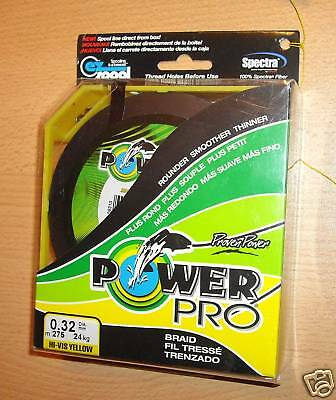 POWERPRO fishing braid - 300yd 20lb YELLOW  POWER PRO