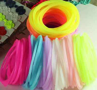 25Pcs New Silicone Gummy Bands Bracelets Rubber Gummies Jelly Bracelets 12COLOUR