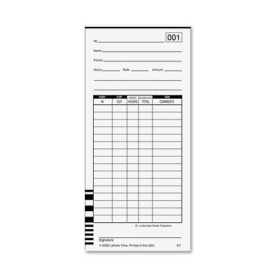 Careful 100 E7 Time Cards For Lathem 7000e And Lathem 7500e Calculating Time Clock Office Equipment Time Clocks & Supplies