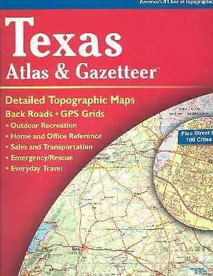 Texas Atlas And Gazetteer - Delorme (Paperback) New