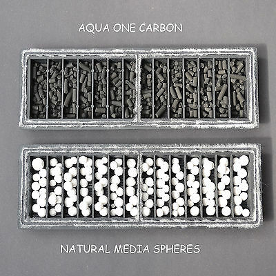 £8.99 F/p Aqua One 102C+1C =3-Month Supply Carbon & Media Spheres Compatible