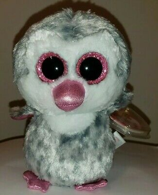 """Ty Beanie Boos - OLIVE the 6"""" Penguin ~ Claires Exclusive ~ 2016 NEW ~ MWMTS"""