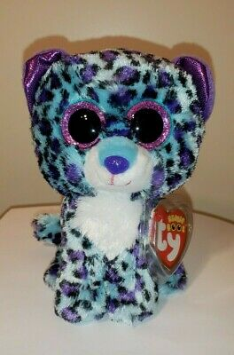 "Ty Beanie Boos - LIZZIE the Leopard 6"" (Claire's Exclusive) NEW MWMT"